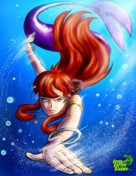 Amber Power Swimming